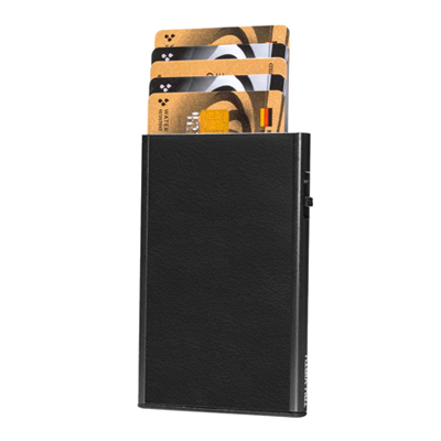 Tru Virtu Card Case Click & Slide Nappa Black/Black