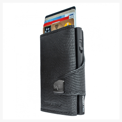 Tru Virtu Wallet Click & Slide Croco Black/Black