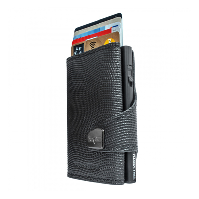 Tru Virtu Wallet Click & Slide Lizard Black/Black