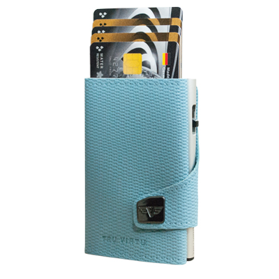 Tru Virtu Wallet Click & Slide Rhombus Light Blue/Silver
