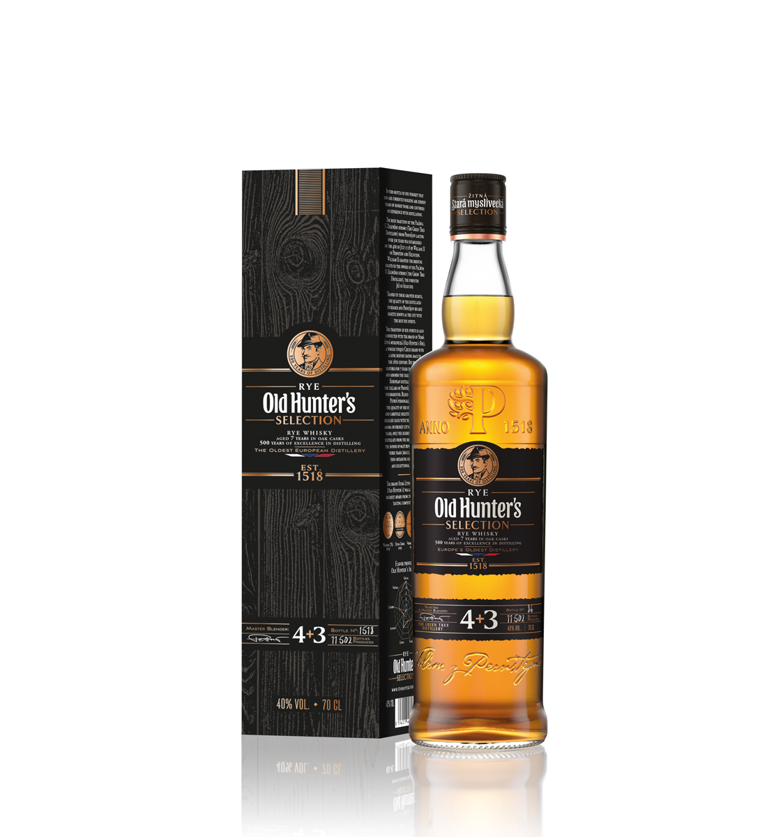 Old Hunter's Selection Rye Traditional 7 ani 0.7L